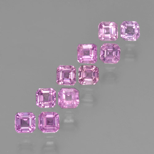 Multicolor Sapphire Gem - 0.2ct Octagon Step Cut (ID: 464213)