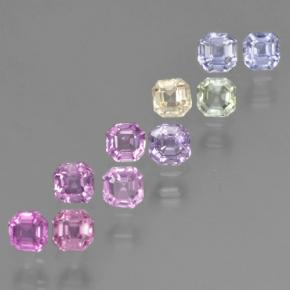 Multicolor Sapphire Gem - 0.1ct Octagon Step Cut (ID: 464214)
