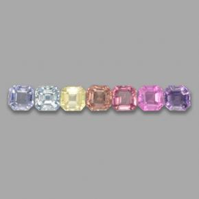 Multicolor Sapphire Gem - 0.2ct Octagon Step Cut (ID: 464652)