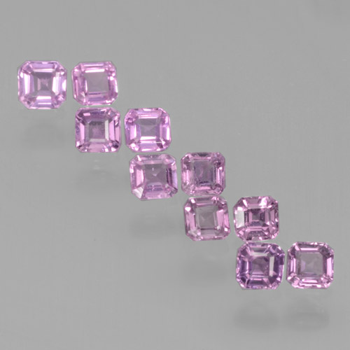 Violet Pink Sapphire Gem - 0.1ct Octagon Step Cut (ID: 465215)