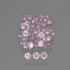 Medium-Light Pink Zaffiro Gem - 0.1ct Taglio brillante (ID: 466694)
