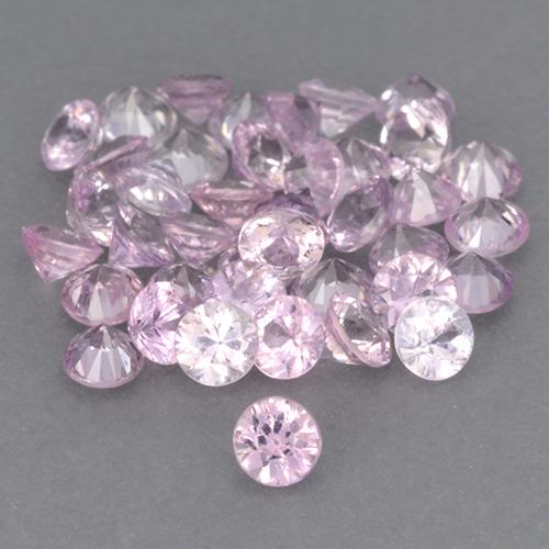 Light Royal Purple Pink Sapphire Gem - 0.1ct Diamond-Cut (ID: 466788)