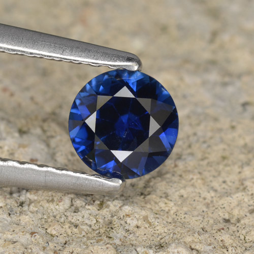 0.5ct Diamond-Cut Dark Blue Sapphire Gem (ID: 467285)