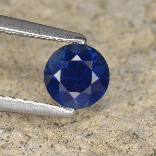 Blue Sapphire Gem - 0.5ct Diamond-Cut (ID: 467286)