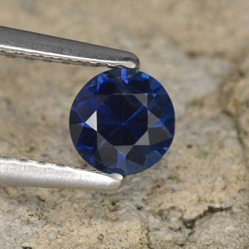 Blue Sapphire Gem - 0.6ct Diamond-Cut (ID: 467288)