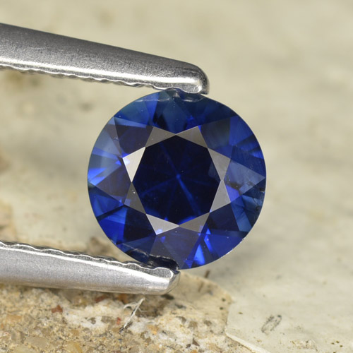 0.6ct Diamond-Cut Dark Blue Sapphire Gem (ID: 467311)