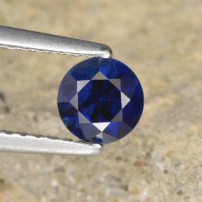 Navy Blue Zafiro Gema - 0.6ct Corte Diamante (ID: 467341)