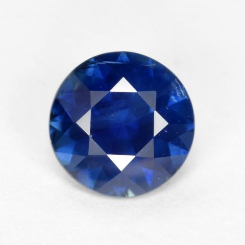 Navy Blue Zafiro Gema - 0.6ct Corte Diamante (ID: 467352)