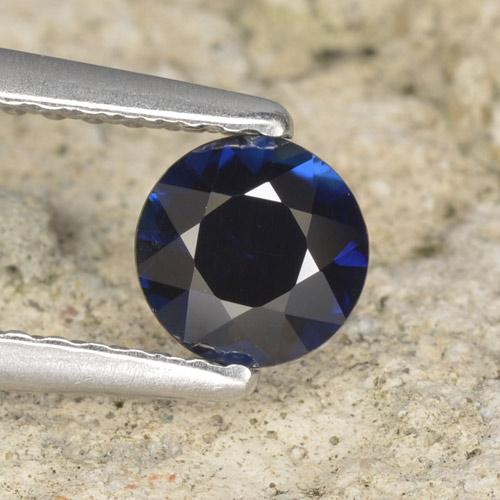 Blue Sapphire Gem - 0.6ct Diamond-Cut (ID: 467401)