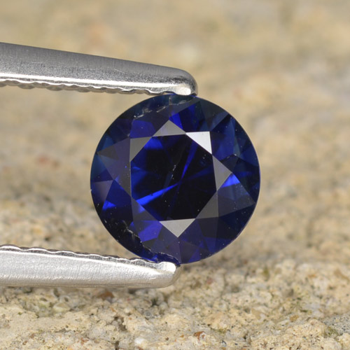 0.6ct Diamond-Cut Dark Blue Sapphire Gem (ID: 467441)