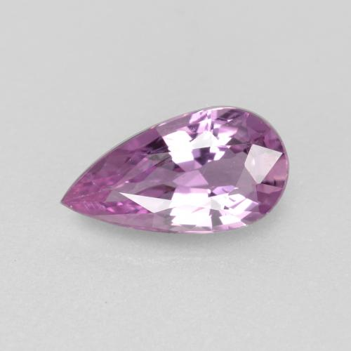 Purple Pink Sapphire Gem - 0.8ct Pear Facet (ID: 467668)