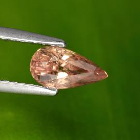 Medium Orange Zafiro Gema - 0.8ct Corte en forma de pera (ID: 467675)