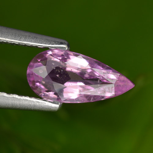 Purple Pink Sapphire Gem - 0.6ct Pear Facet (ID: 467712)
