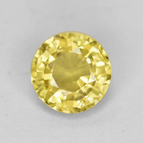 Yellow Sapphire Gem - 0.8ct Round Facet (ID: 468053)