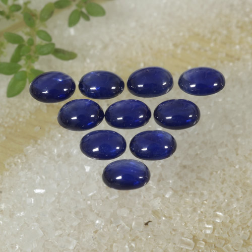 Blue Sapphire Gem - 0.3ct Oval Cabochon (ID: 470778)