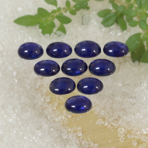 Blue Sapphire Gem - 0.3ct Oval Cabochon (ID: 470782)