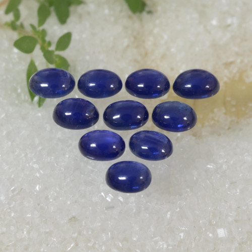 Intense Navy Blue Sapphire Gem - 0.3ct Oval Cabochon (ID: 470785)