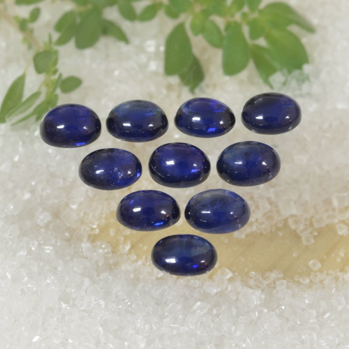 Blue Sapphire Gem - 0.3ct Oval Cabochon (ID: 470787)