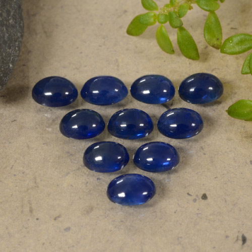 Blue Sapphire Gem - 0.3ct Oval Cabochon (ID: 470790)