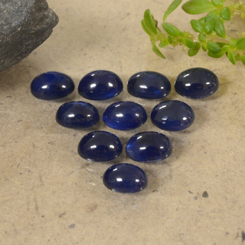 Navy Blue Sapphire Gem - 0.3ct Oval Cabochon (ID: 470791)
