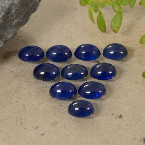 Blue Sapphire Gem - 0.3ct Oval Cabochon (ID: 470792)