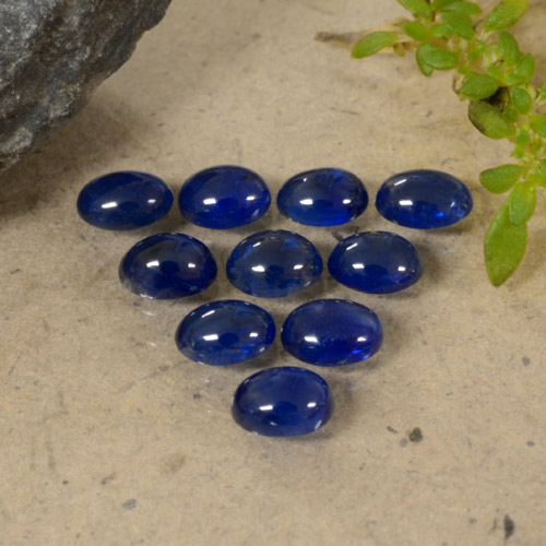 Blue Sapphire Gem - 0.3ct Oval Cabochon (ID: 470793)