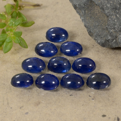 Blue Sapphire Gem - 0.3ct Oval Cabochon (ID: 470795)