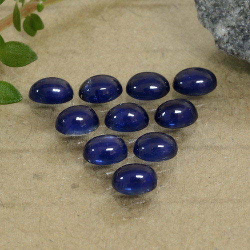 Blue Sapphire Gem - 0.3ct Oval Cabochon (ID: 471157)