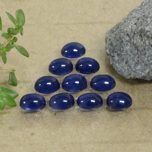 Blue Sapphire Gem - 0.3ct Oval Cabochon (ID: 471163)