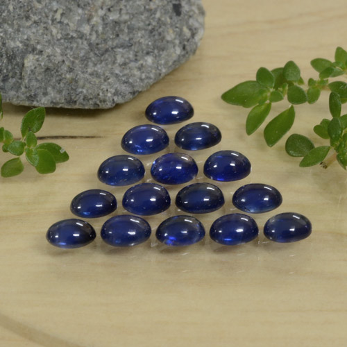 Blue Sapphire Gem - 0.3ct Oval Cabochon (ID: 471411)