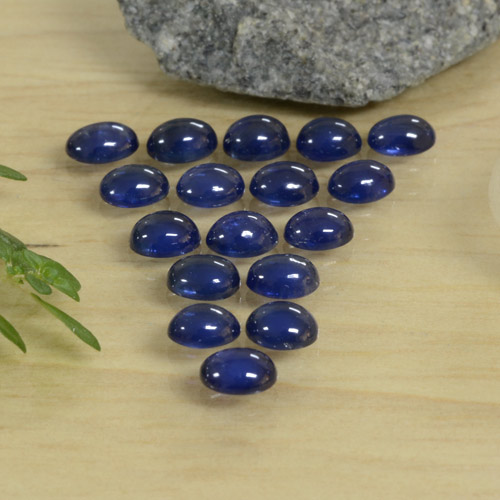 Blue Sapphire Gem - 0.3ct Oval Cabochon (ID: 471415)