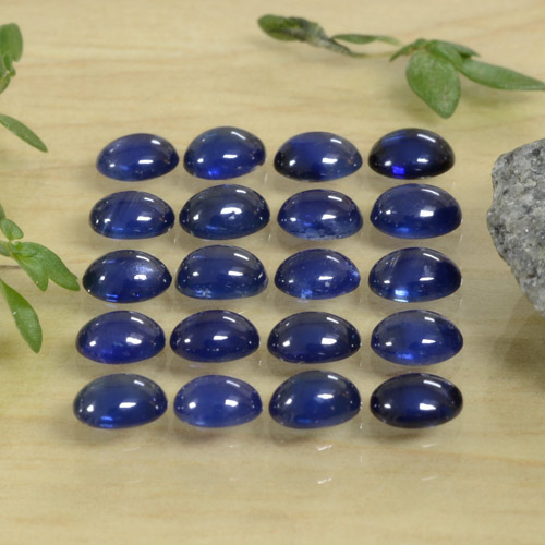 Blue Sapphire Gem - 0.2ct Oval Cabochon (ID: 471417)