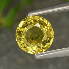 Yellow Sapphire Gem - 0.7ct Round Facet (ID: 473161)