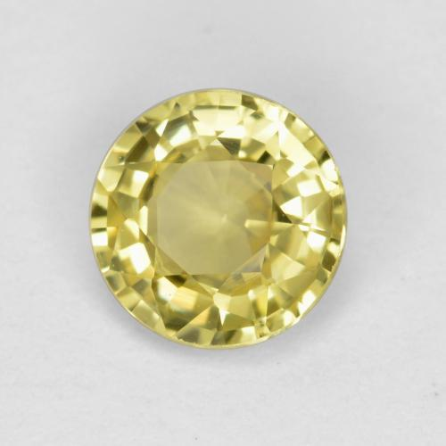 Pineapple Yellow Sapphire Gem - 0.6ct Round Facet (ID: 473175)