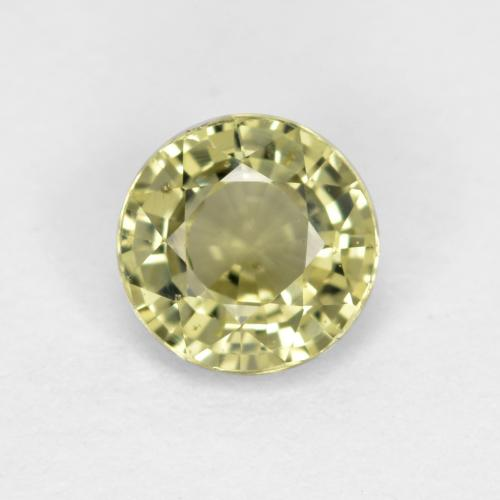 Medium Yellow Zafiro Gema - 0.7ct Faceta Redonda (ID: 473176)