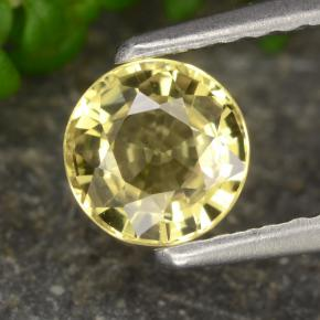 Yellow Sapphire Gem - 0.8ct Round Facet (ID: 473528)