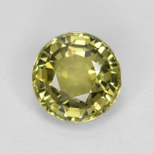 Medium Yellow Zafiro Gema - 0.7ct Faceta Redonda (ID: 473812)