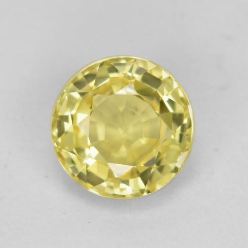 Yellow Sapphire Gem - 0.8ct Round Facet (ID: 473816)