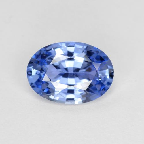 Blue Sapphire Gem - 0.8ct Oval Facet (ID: 475424)