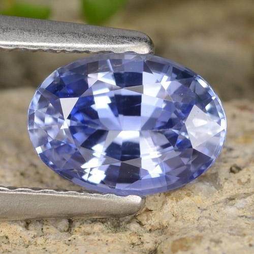 Blue Sapphire Gem - 0.9ct Oval Facet (ID: 475700)