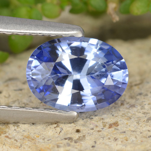 Blue Sapphire Gem - 0.9ct Oval Facet (ID: 475711)