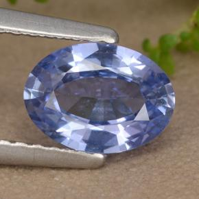 Blue Sapphire Gem - 1ct Oval Facet (ID: 475909)