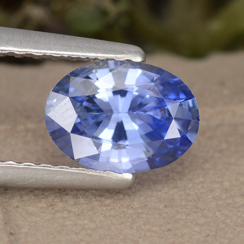 Blue Sapphire Gem - 0.9ct Oval Facet (ID: 476088)