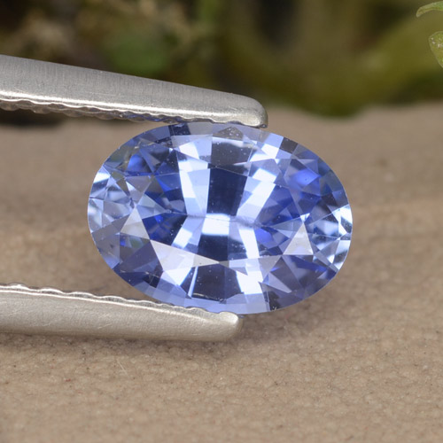 Blue Sapphire Gem - 0.9ct Oval Facet (ID: 476090)