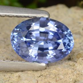 Blue Sapphire Gem - 1ct Oval Facet (ID: 476278)