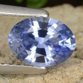 Blue Sapphire Gem - 1ct Oval Facet (ID: 476281)