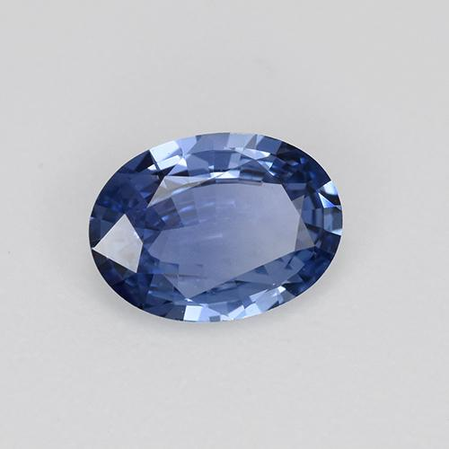 Blue Sapphire Gem - 0.9ct Oval Facet (ID: 476285)