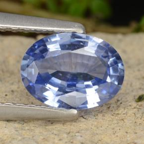 1ct Oval Facet Blue Sapphire Gem (ID: 476539)