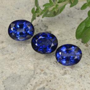 Royal Blue Sapphire Gem - 0.4ct Oval Facet (ID: 478383)