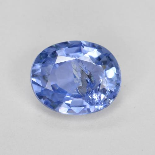 Blue Sapphire Gem - 0.8ct Oval Facet (ID: 478473)
